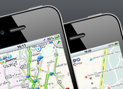 Traffic and Map web for mobiles